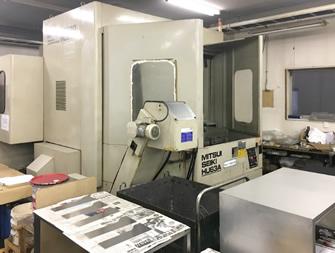 高精度横型マシニングセンタによる角物加工